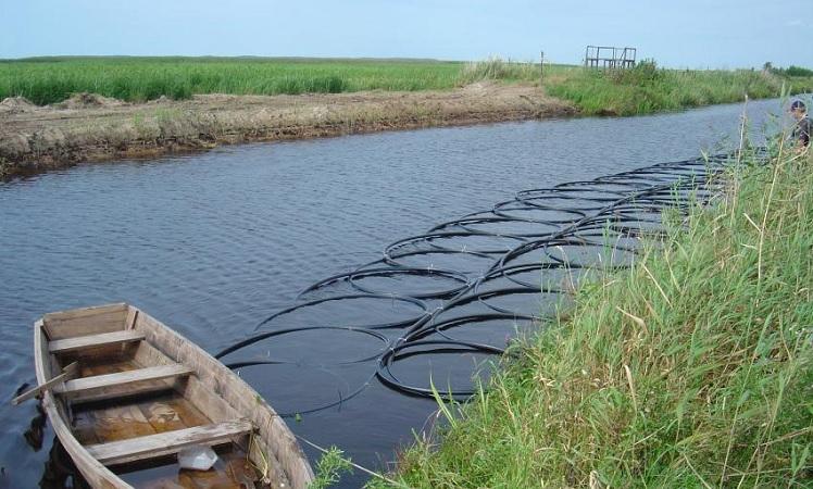 Geoterminis šildymas, lauko kolektorius vandens telkinyje. Daikra
